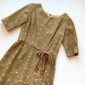 """Vintage 50s 60s Lace Cocktail Dress 30"""" Waist M/L"""